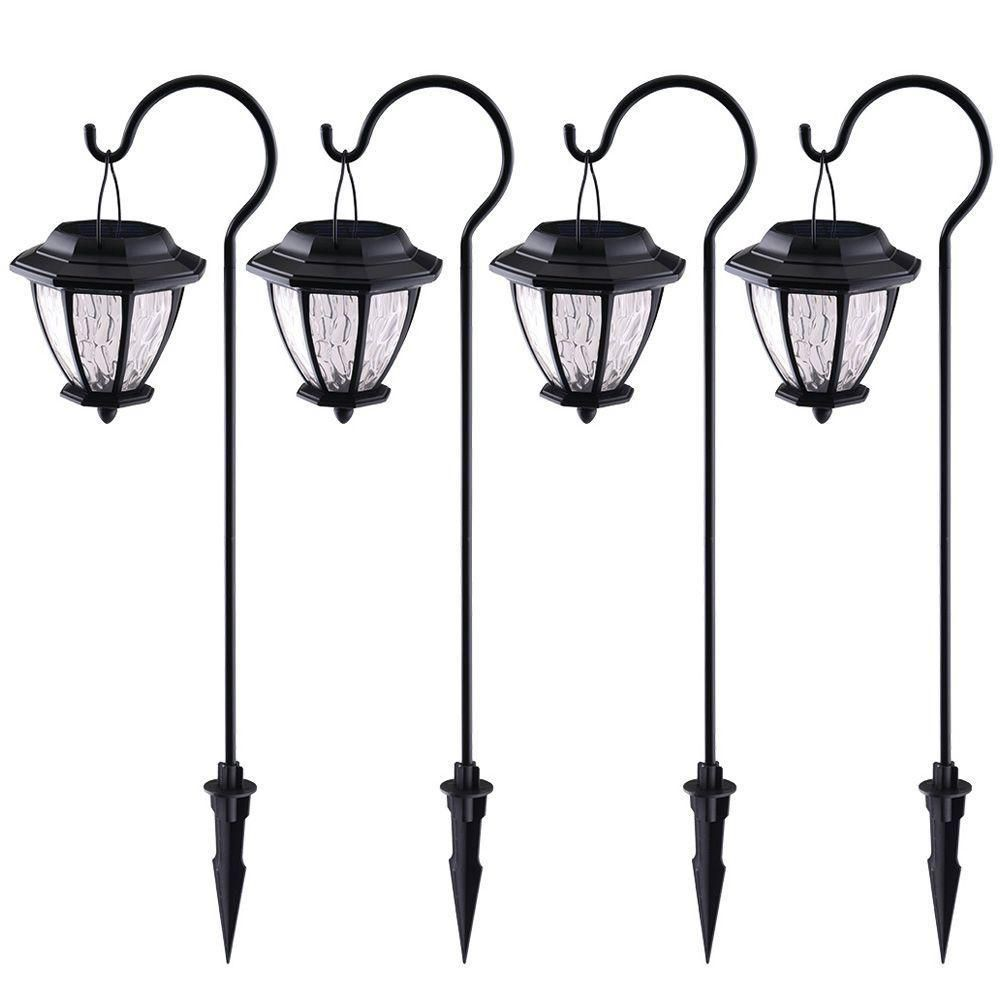 Hampton Bay Pathway Lights Unique Hampton Bay Matte Black Solar Path Light 4Pack  June  Path Inspiration