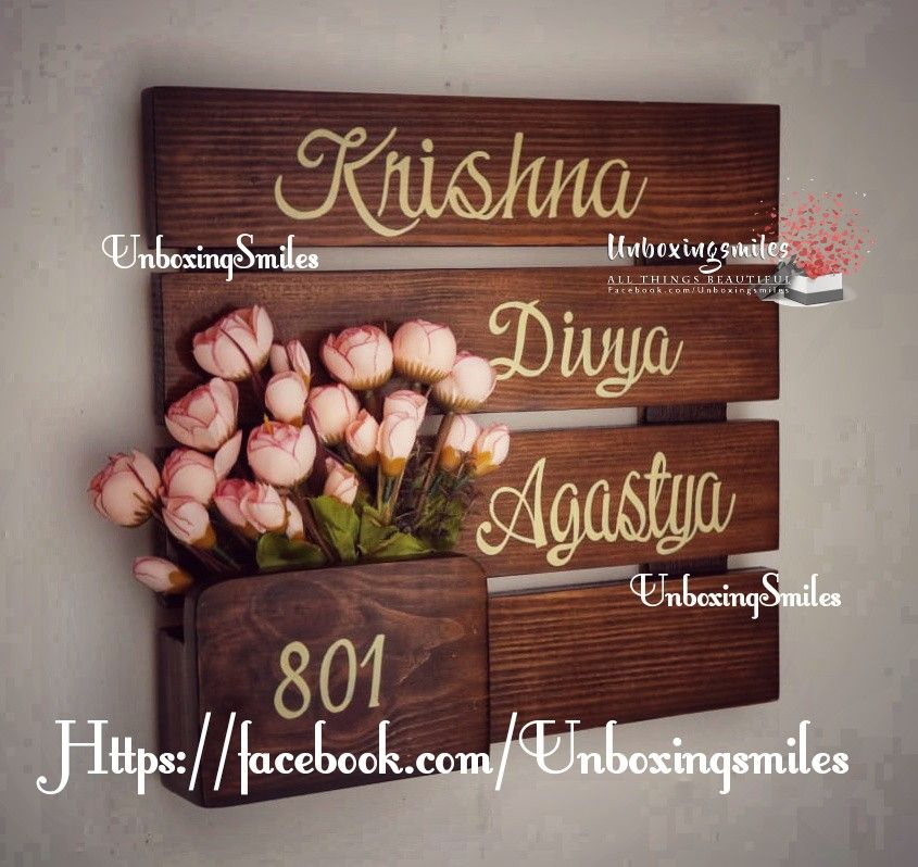 Handmade Nameplate Unboxingsmiles Name Plate Design Name Plates For Home Wooden Name Plates