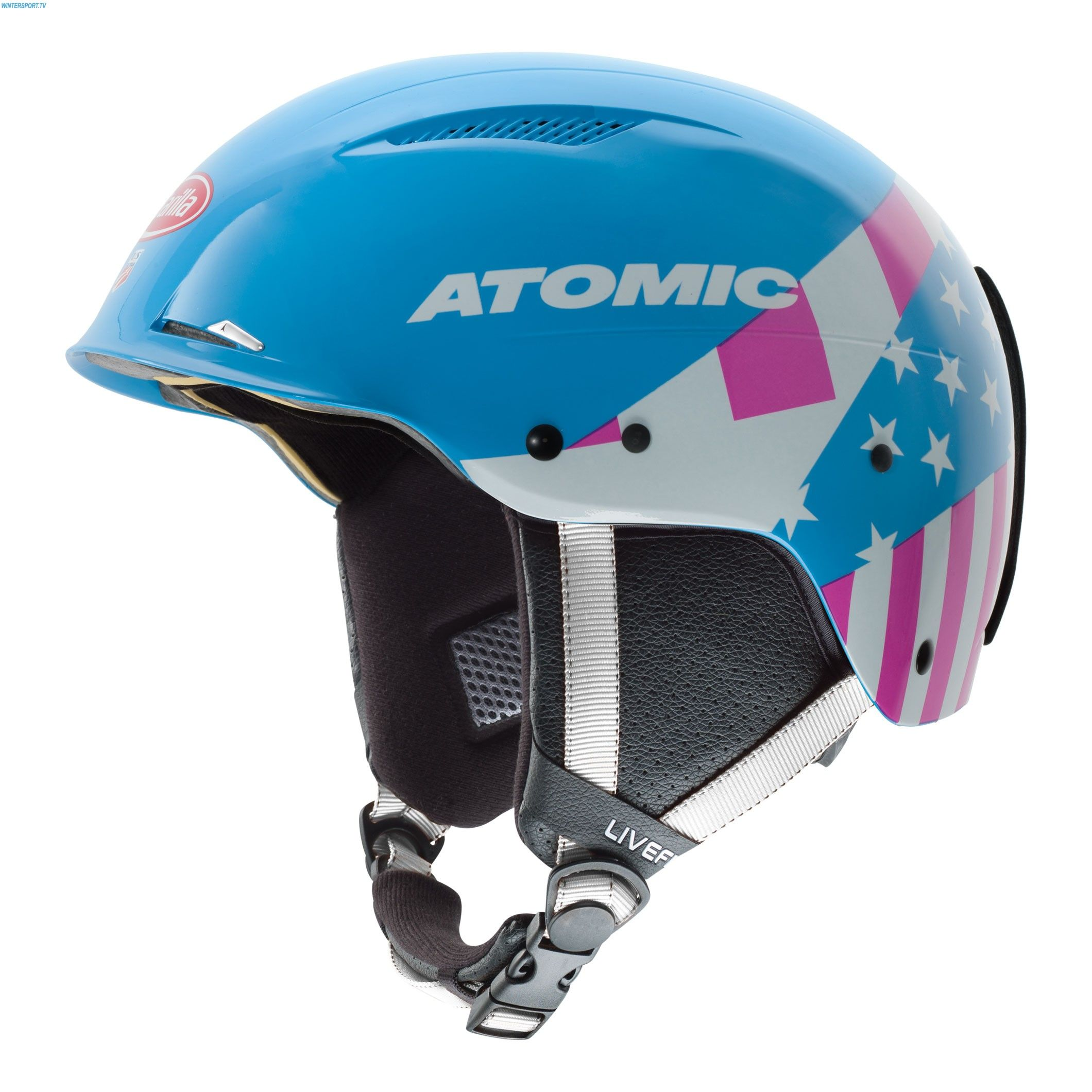 Atomic Redster LF Slalom Helmet with Chin Guard Mikaela