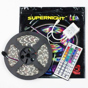 Amazon supernight tm 164ft smd 5050 waterproof 300leds rgb new durable outdoor flexible super bright led strip light lamp kit rope lighting mozeypictures Choice Image