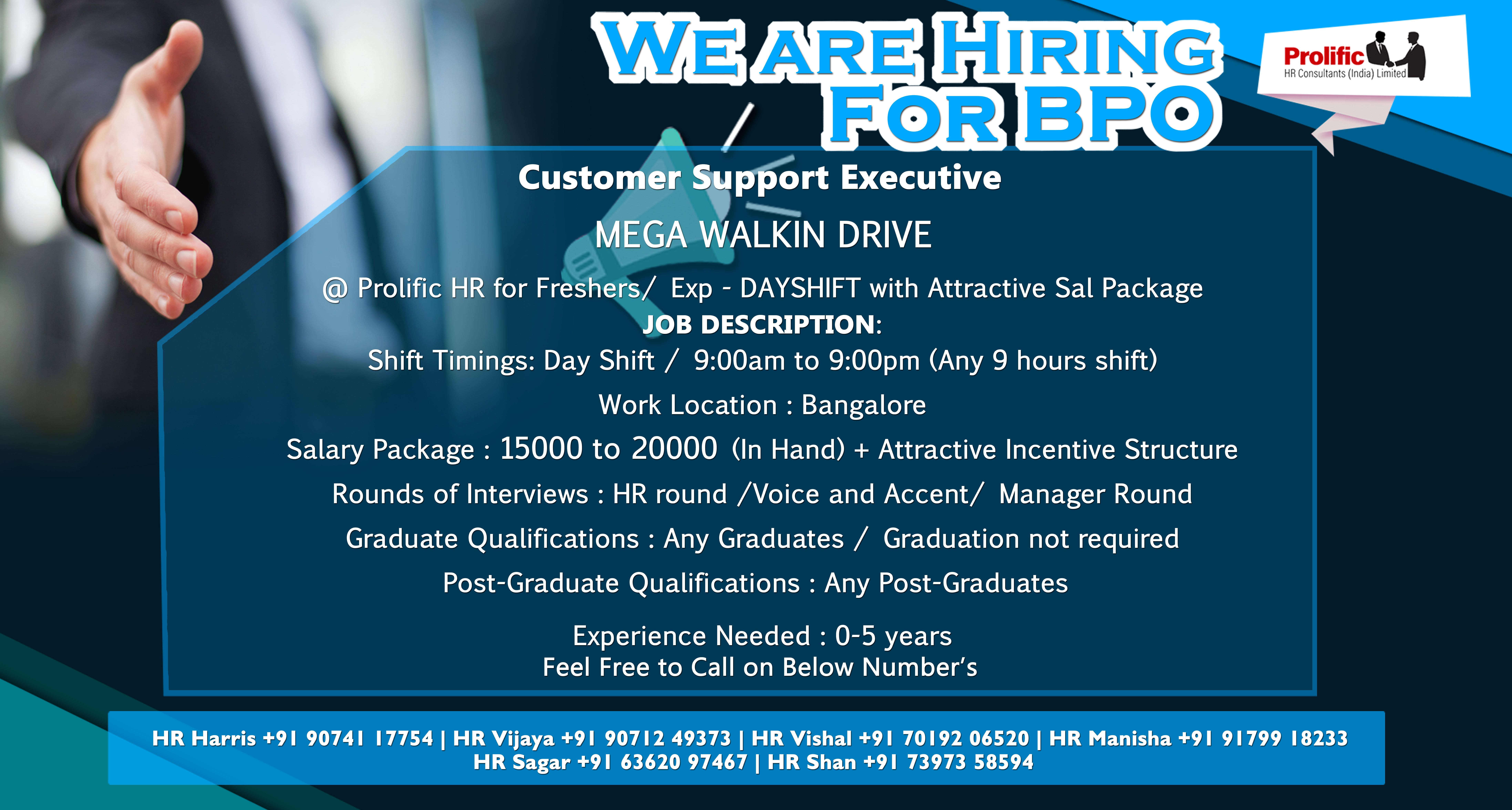 BPO jobs in Bangalore. Bpo, We are hiring, Job placement