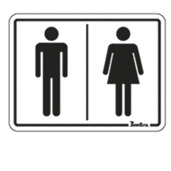 Kit Placas Autoadesivas em Poliestireno 20×15 cmMasculinoFeminino&quot # Banheiro Feminino E Masculino Em Ingles
