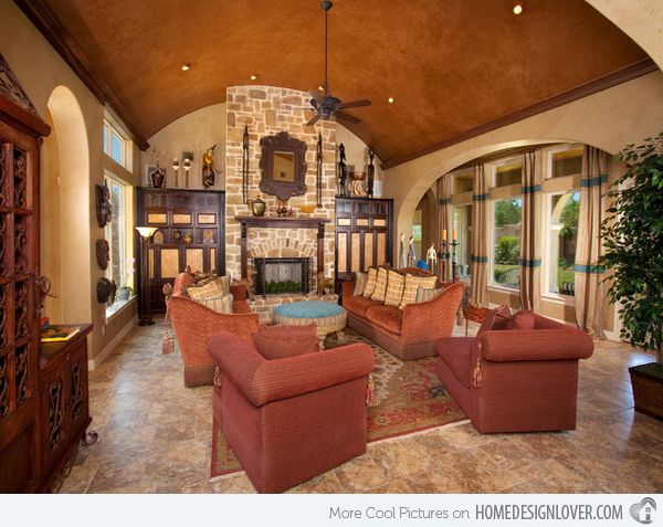 Attractive 15 Stunning Tuscan Living Room Designs | Home Design Lover