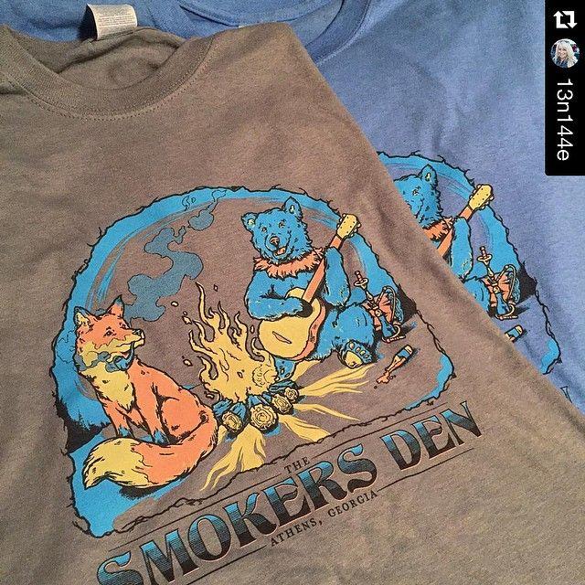 Old Guard Graphics, Athens, GA, Smokers Den, camping shirt, fox | T