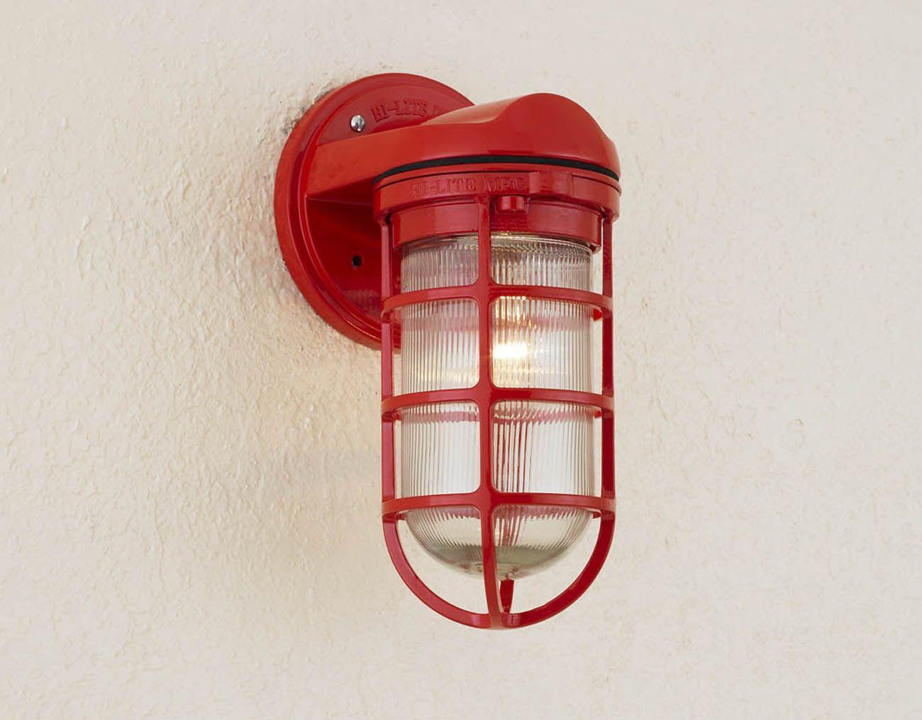Hi Lite Mfg Co Inc Image Library Saucer Vapor Jar Shade Half Sconces Rustic Wall Lighting