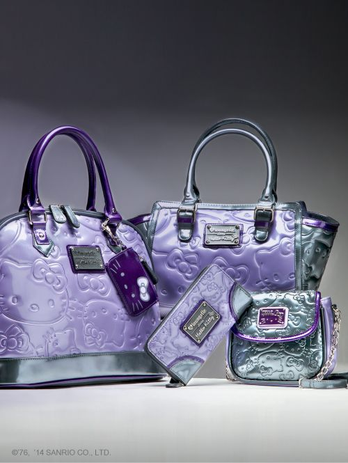 Exclusive purple tone  Loungefly x  HelloKitty bags. Find them at  sanrio.com only b8f7ca4fd35d4