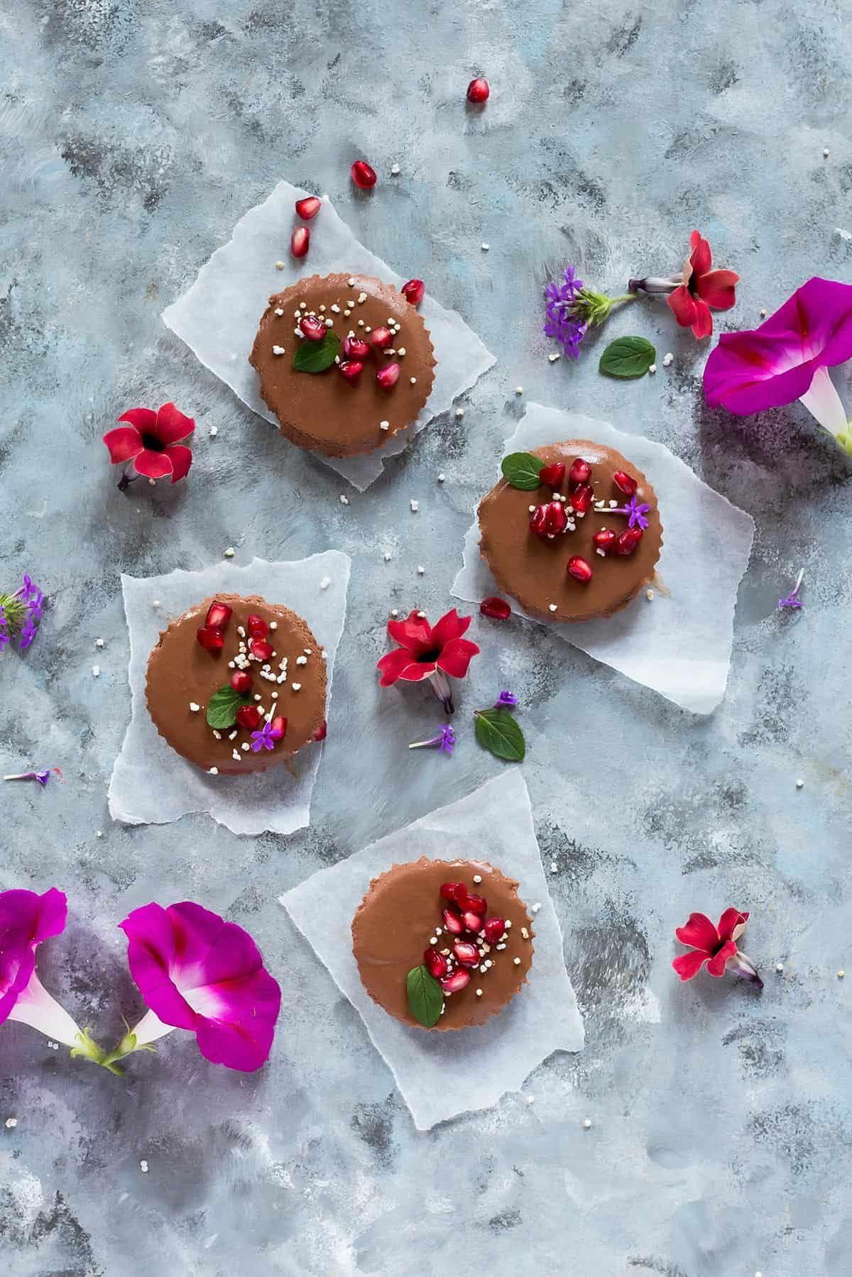 No Bake Chocolate Tart Vegan Gluten Free Paleo Leelalicious