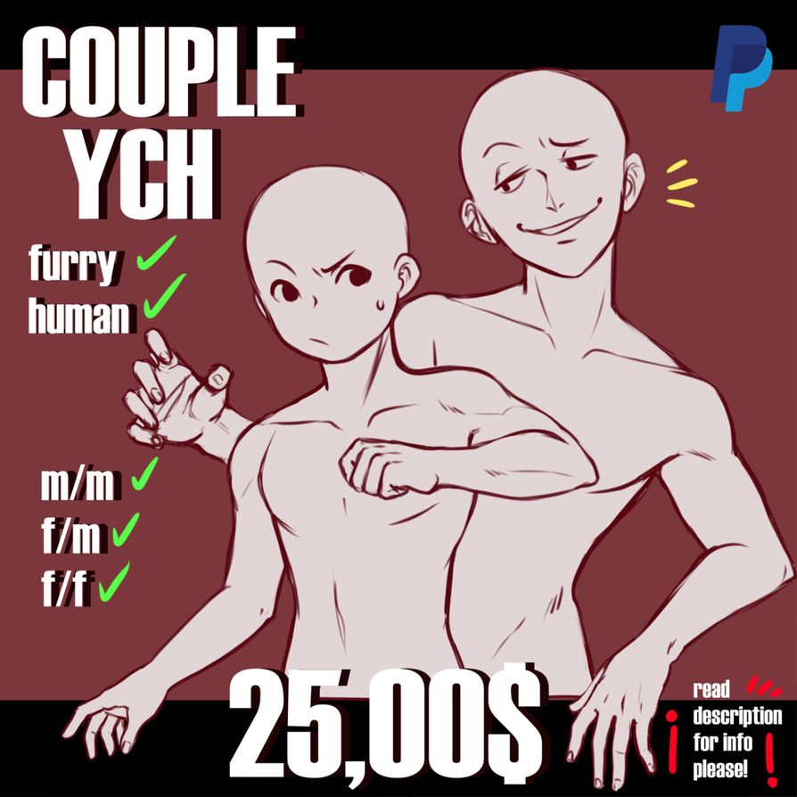 Closed Annoying Cute Couple Ych By Trash Muffin On Deviantart Drawing Expressions Art Reference Poses Couple Poses Reference