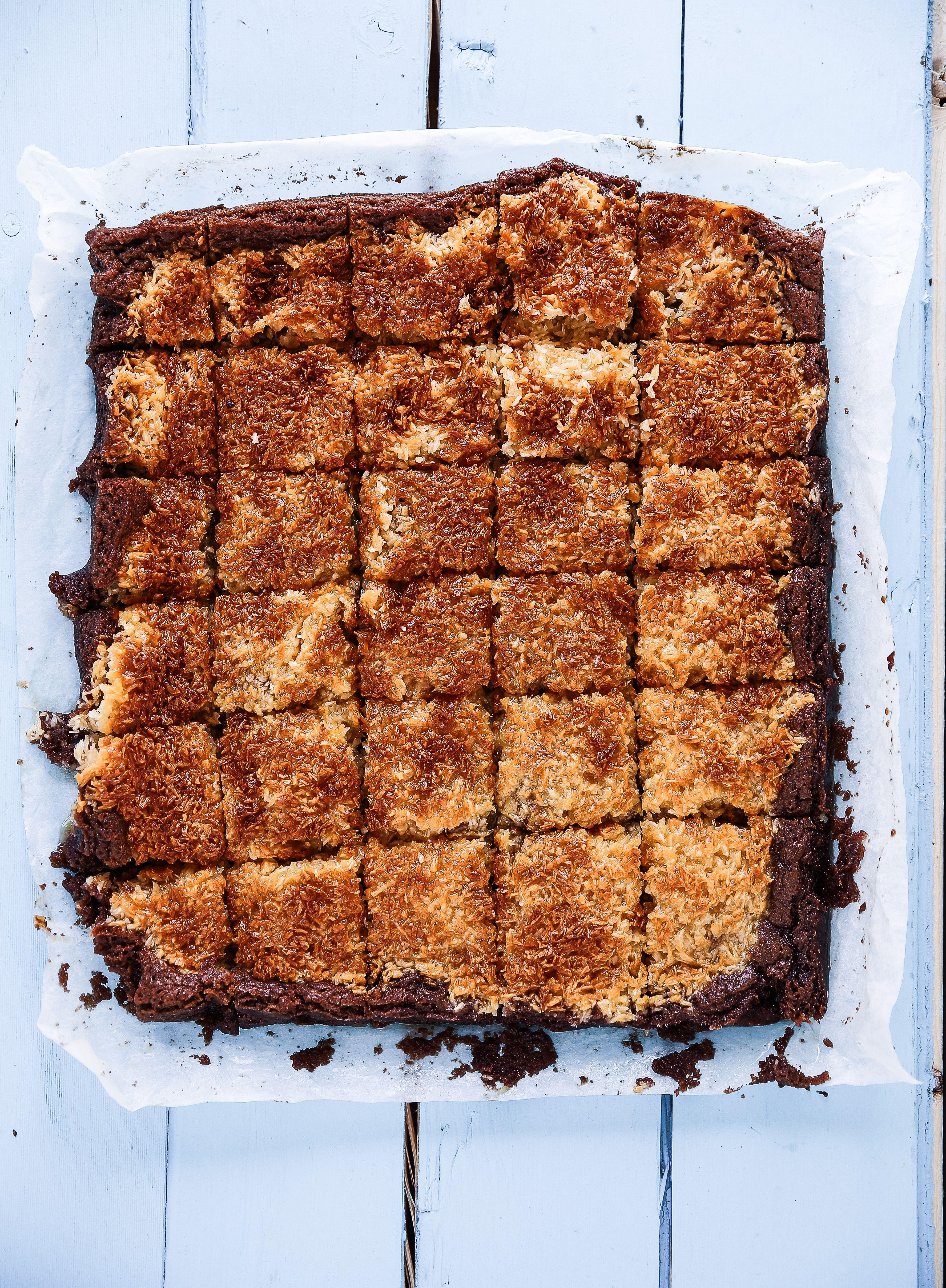 chokladkladdkaka med kokostosca