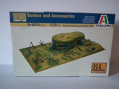 Italeri Wwii Bunker & Accessories Model Kit - 1/72 Scale