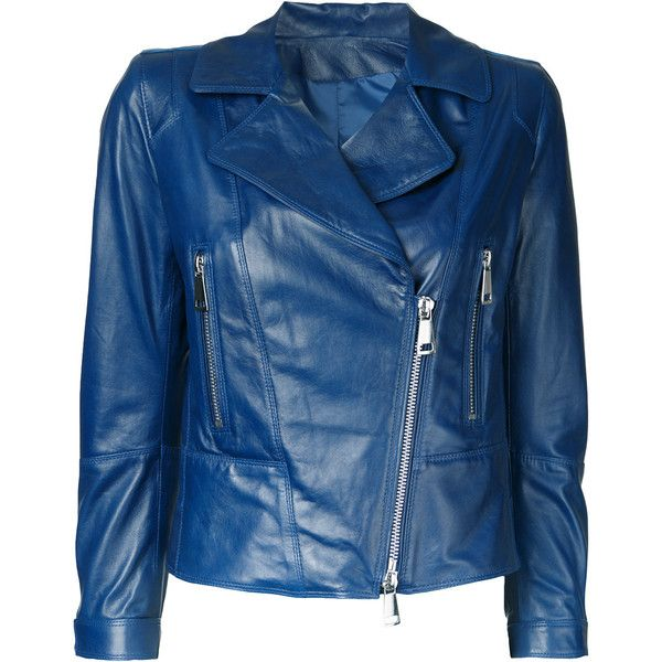 Sylvie Schimmel zip up jacket (€1.150) ❤ liked on Polyvore featuring outerwear, jackets, blue, blue zip up jacket, blue jackets, zip up jackets and sylvie schimmel