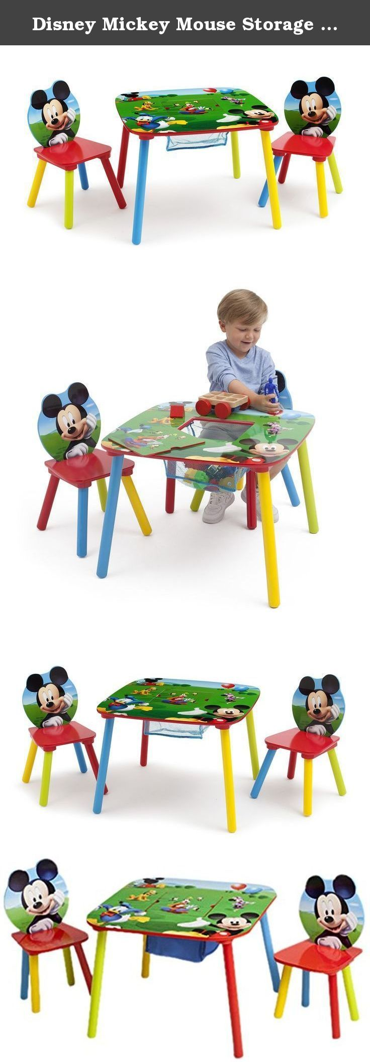 Disney mickey mouse storage table and chairs set by delta