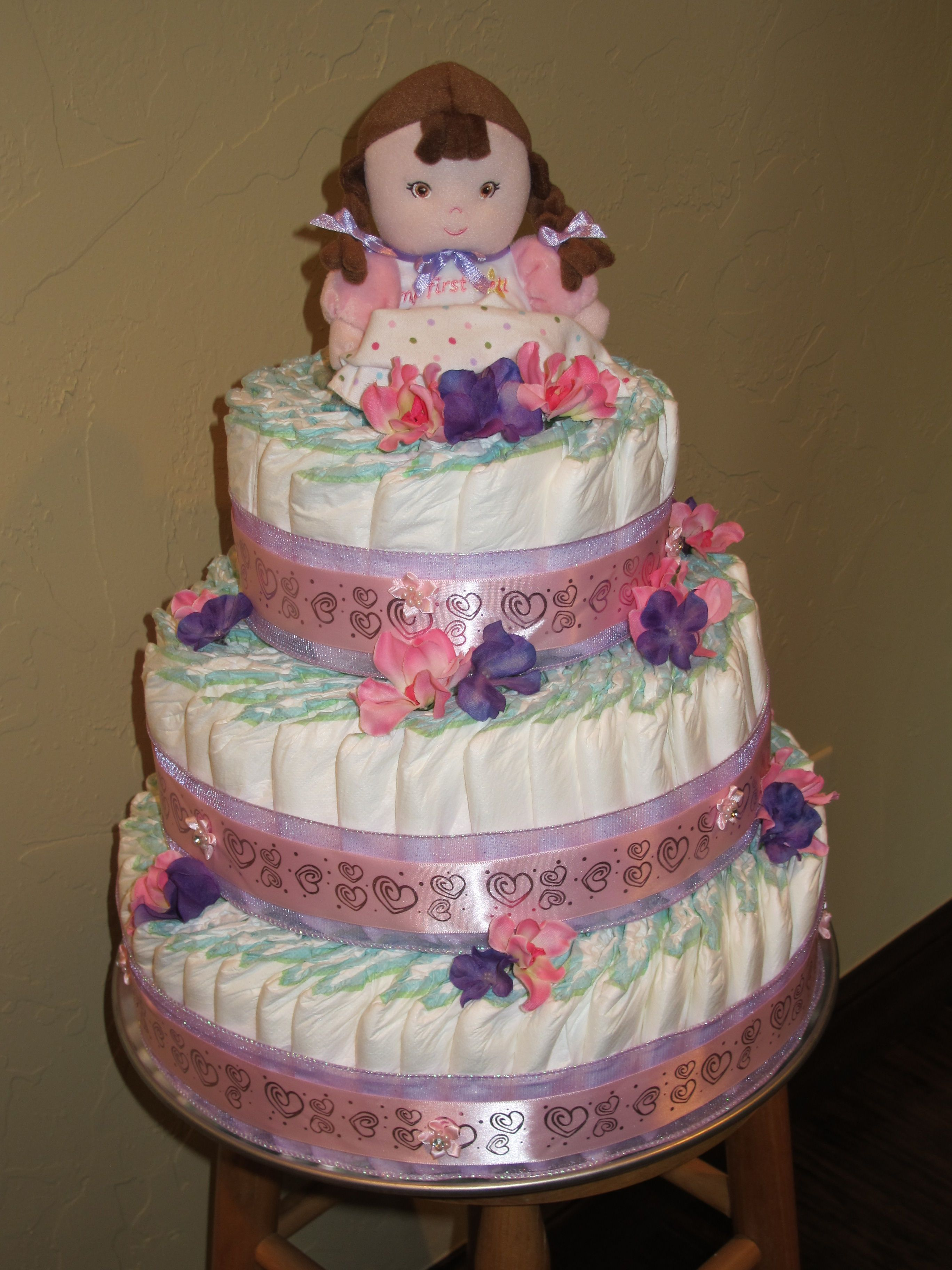 Diaper Cake For Girl This Is Ugly But The Diaper