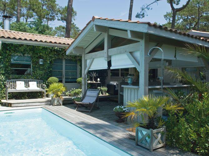 une maison au style colonial au cap ferret bois gris intimit et milieu. Black Bedroom Furniture Sets. Home Design Ideas