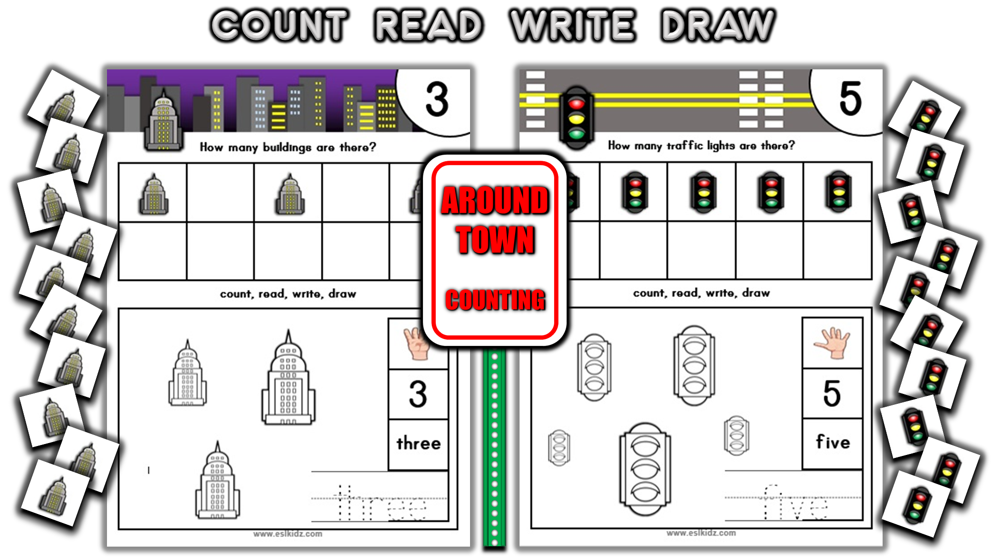 City Places Number Counting Activities