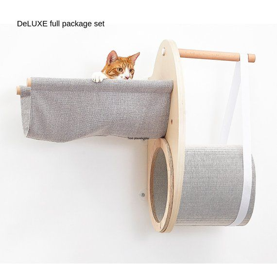 NEW!!! DeLUXE Wall Mounted Vertical Package Set, Designer Pet Furniture, Wall Mounted Perch, Vertical Playground, Floating Shelf, Xmas is part of Vertical Wall Shelf Etsy - Oceania [912 weeks]          🚢Asia [57 weeks]          🚢South America [68 weeks]    🚢 Africa [68 weeks] Frequently Asked Questions (FAQ) ➡️ Will my cat be willing to get on the shelf  By being raised off the ground, your cat feels safe, cosy and protected from irritation if they want to sleep rather than play with other pets or children in the house   When your cat feels in the mood to be alone, this is the perfect place for them to relax  Cat shelves are recommended by cat behaviorists  Please read our clients reviews to find out more   ▶️ Is it difficult to install the shelf   No at all, what you need is to make six small holes in a wall  The side brackets are 16 inches apart so they can be attached to the wall studs for maximum strength    ➡️ Do I need any additional mounting equipment  You only need a standard driller and a wrench  We will provide you with 2 dowels and 2 screws and a mounting instruction  What's important is that the shelf is ready to hang  In the video below you may see how to install the shelf ➡️ What if I want to return an item  If for any reason, you wish to return an item which you bought, you may do so if the item is unused or undamaged condition, during 30 days of receiving your order   If you live either in the US 🇺🇸 or UK 🇬🇧 you may return an item to our local offices located in New Jersey (US) or Notthingham (UK)   For other locations items should be sent back to Poland by economy postal service    THE SET INCLUDES ▶️ Cat shelf (BASE A) ▶️ Additional elements listed above ▶️ 1 metal bracket (already installed) ▶️  5 dowels and screws ▶️ User's manual  GIFTING OUR PRODUCTS  All our products are gift ready  If you want us to include a gift message, please let us know   ❤️ THANK YOU for visiting our shop! We hope to offer you an amazing experience with unique, high quality pet comfort products, fast shipping and excellent customer service  R E T U R N   P O L I C Y If you would like to return an item, you must ship the item back within FOUR WEEKS from the date you received the item  We appreciate your understanding  we would not be able to reimburse you for your return shipping cost as we try to keep our prices relatively low  If you live either in the US 🇺🇸 or UK 🇬🇧 you may return an item to our local offices located in New Jersey (US) or Notthingham (UK)   For other locations items should be sent back to Poland by economy postal service    Please, convo us if you have any questions  We're here to help with whatever we can  NEW!!! Wall Mounted Cat Bed, Cat Hammock, Cat Tree, Designer Pet Furniture, Wall Mounted Perch, Vertical Playground, Floating Shelf, Xmas