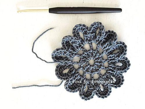 Crochet Flower Tutorial. | Rosa P. | Crochet ideas | Pinterest ...