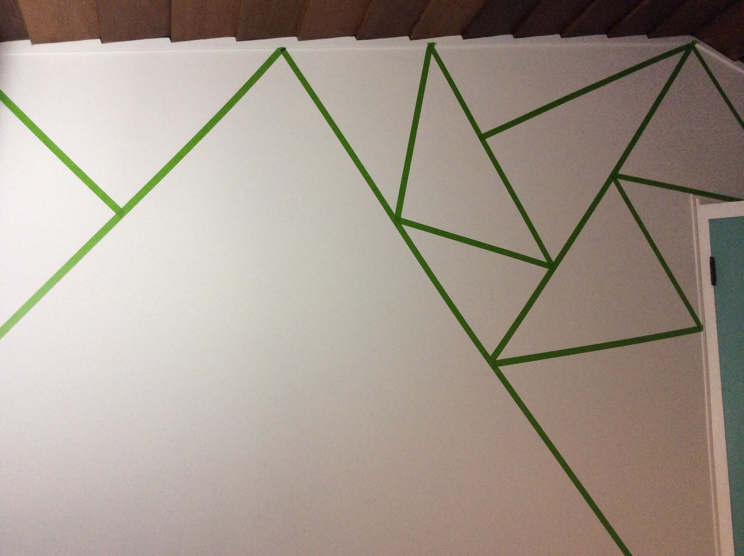 How To Start Your Triangle Wall Use Frog Tape Only Frog Tape Wall Triangle Wall Tape Wall