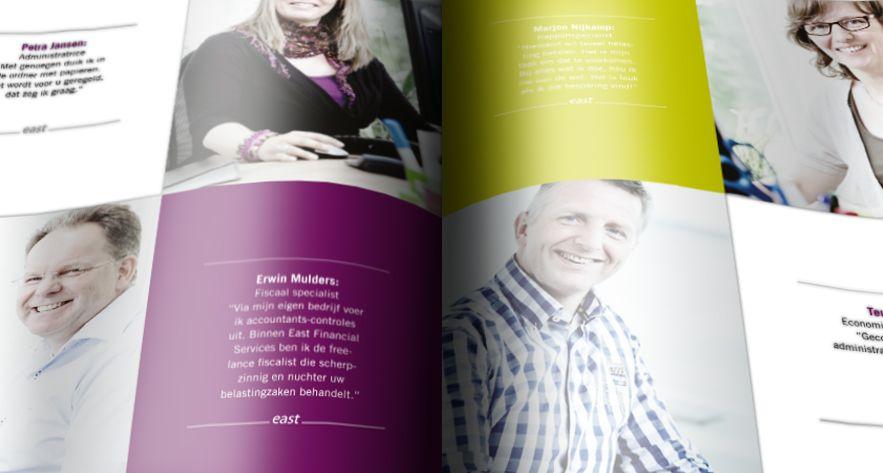 Corporate lijn voor o.a. brochures & advertenties. Eastgroup.