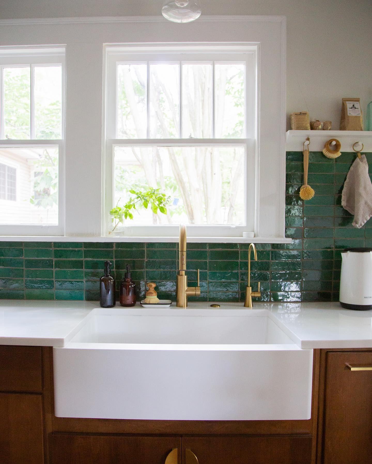 16++ Emerald green backsplash tile ideas