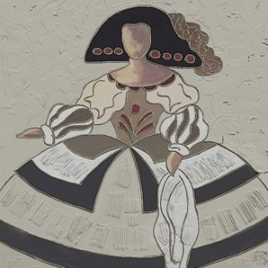 Cuadro menina bacb603 cuadros modernos abstracto pintura for Cuadros meninas modernas
