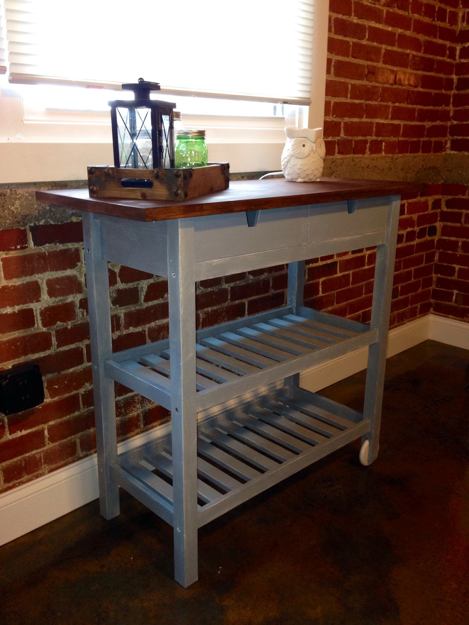 Ikea Forhoja Kitchen Cart That I Painted With Miss Mustard Seed S