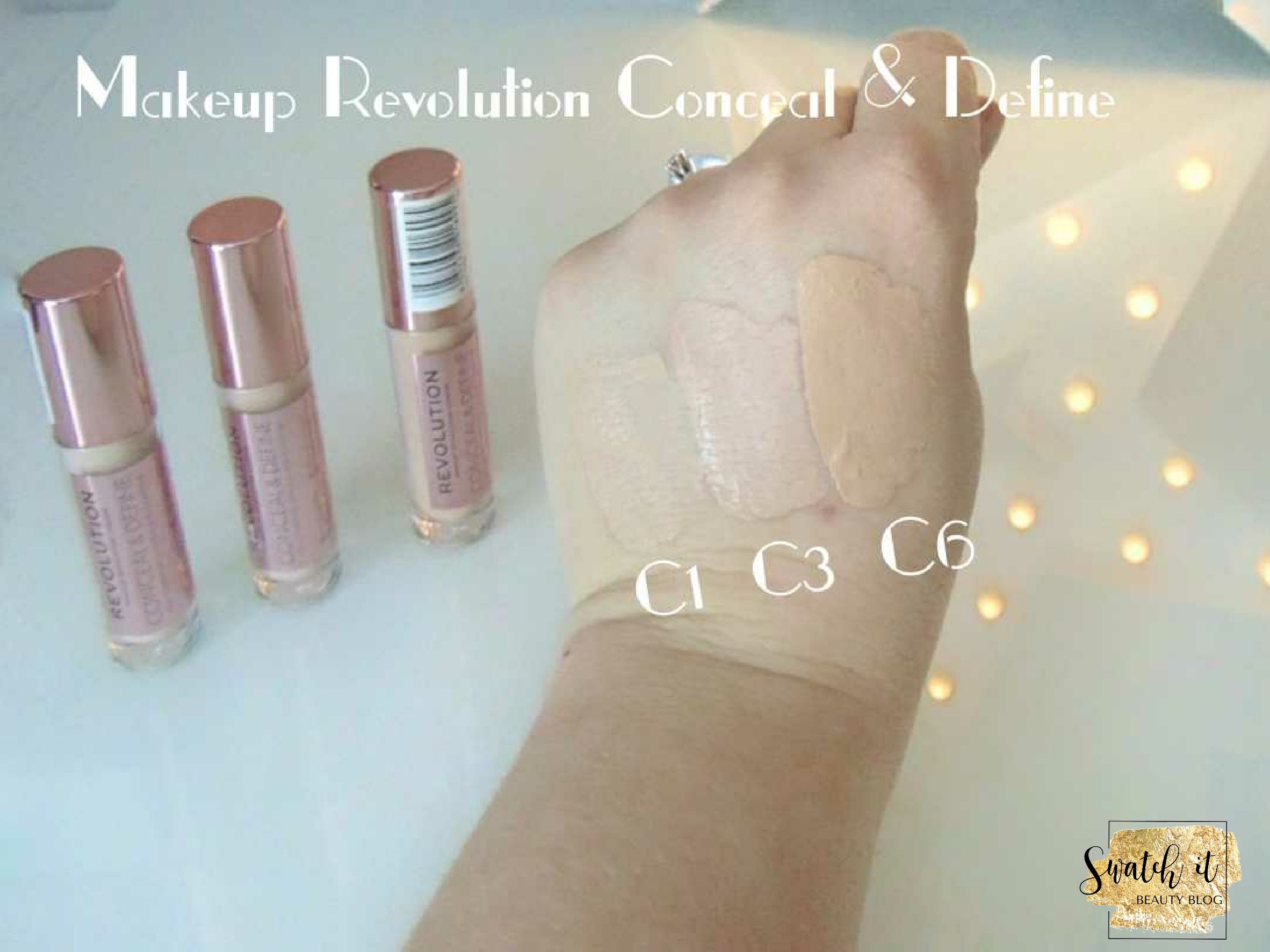Makeup Revolution Conceal & Define Concealer C1, C3, C6