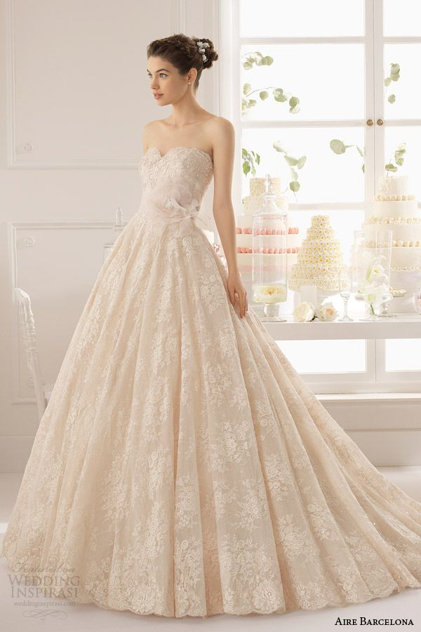 aire barcelona 2015 strapless wedding dresses | aire barcelona