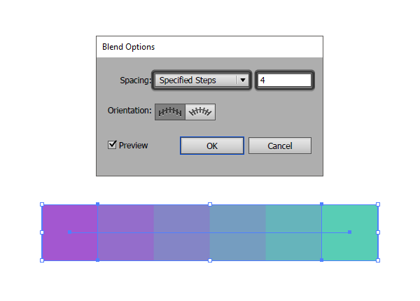 Creating a color palette using the blend tool illustrator creating a color palette using the blend tool ccuart Image collections