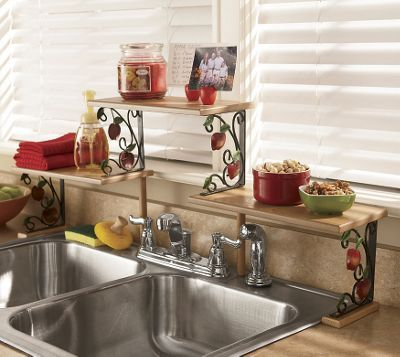 Apple Over The Sink Shelf Apple Kitchen Decor Sink Shelf Kitchen Decor
