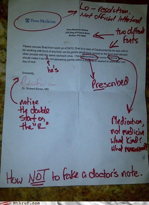 job fails - Doinu0027 It Wrong Level Fake Doctoru0027s Note Fake - doctors note
