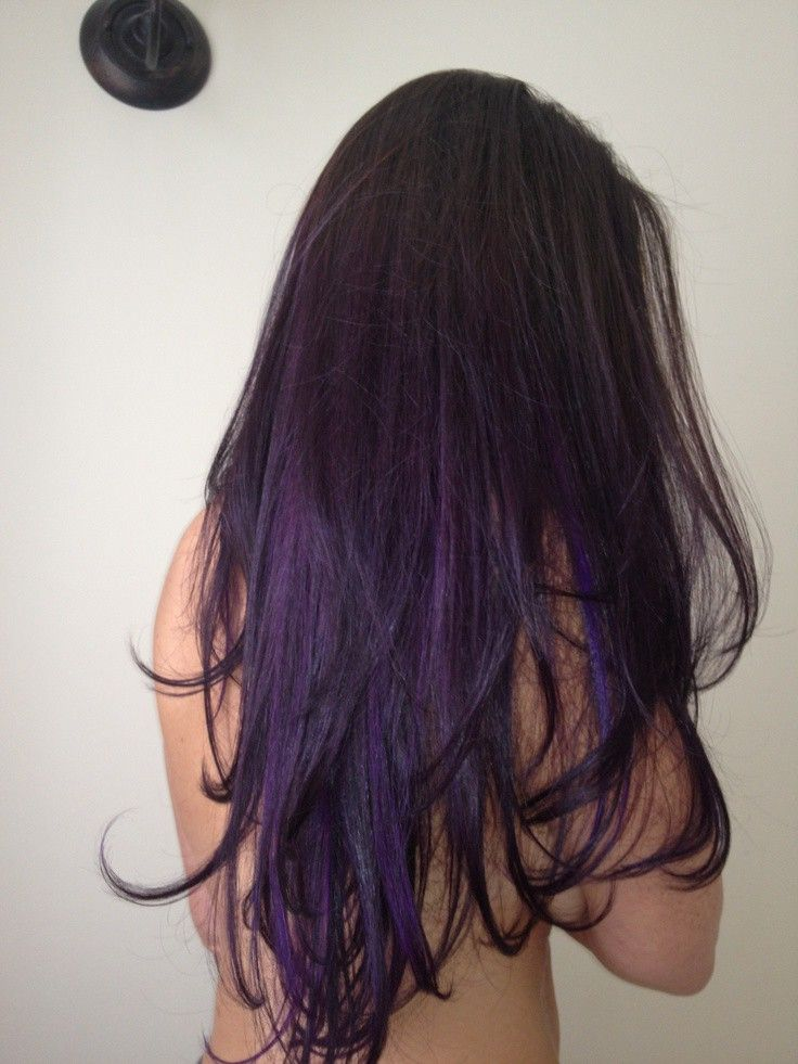 black hair purple tips tumblr - Google Search