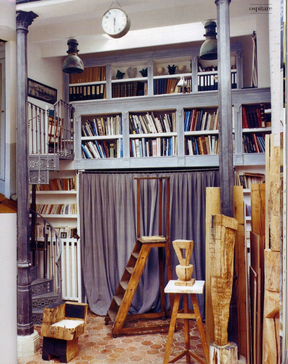 Home Library Loft: Small Bedroom With Library Loft
