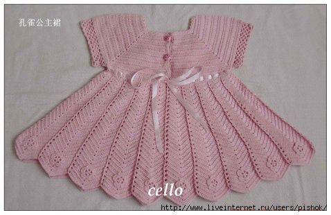 Artesanato diversão e prazer: Vestidos de croche para crianças