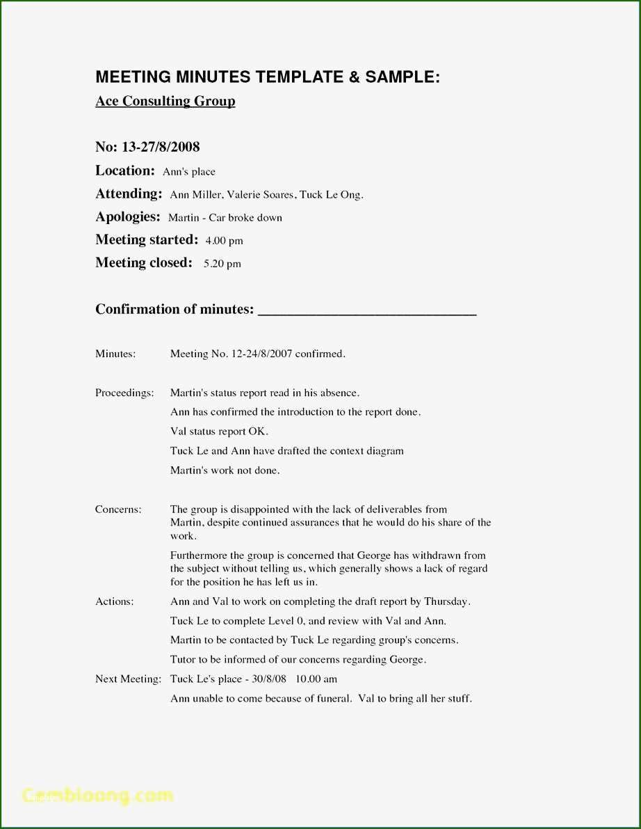 13 Phenomenal Meeting Minutes Template Doc in 2020