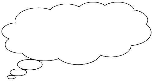 photograph regarding Printable Thought Bubble known as 6 Printable Speech Bubbles for Sbooking Instructor