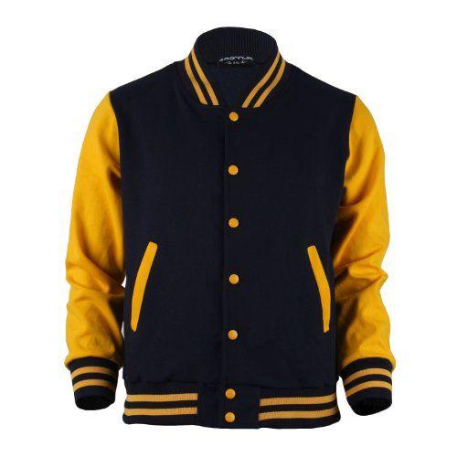 Bcpolo Men S Varsity Jacket Navy Yellow Baseball Jacket Letterman Jacket Xxl Us X Large Made In Korea Bcp Ropa De Hombre Chaquetas Varsity Ropa De Colegio