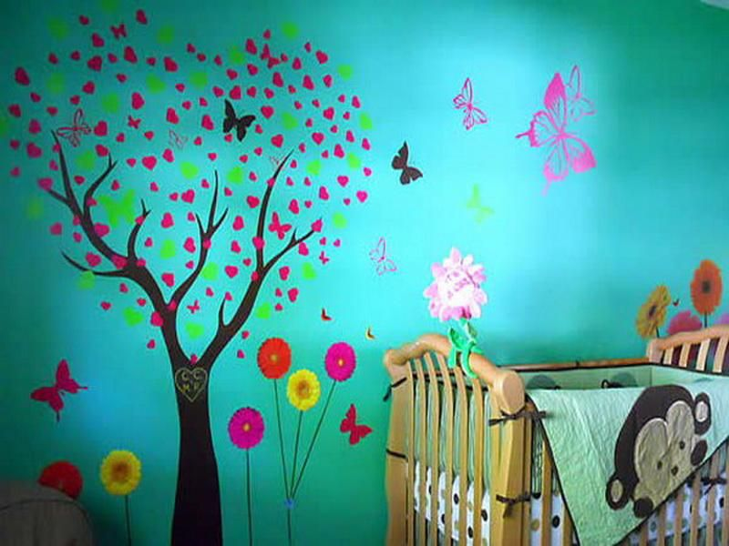 Butterfly Bedroom Decorating Ideas: Butterfly Room Decor Ideas On Blue Wall
