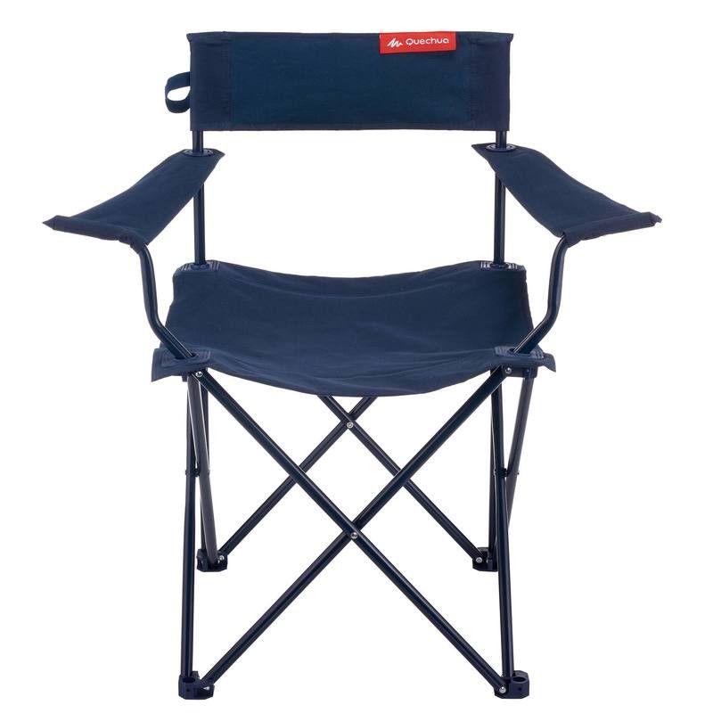 Decathlon Sedie Pieghevoli Campeggio.Sedia Braccioli Basic Blu Sedie Da Campeggio Sedia Con