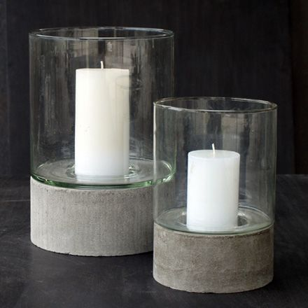 We Can T Take Our Eyes Off These Gorgeous Contempo Hurricane Candle Holders And They Re Not Ev Artesanato De Cimento Artefatos De Cimento Artesanato Concretas