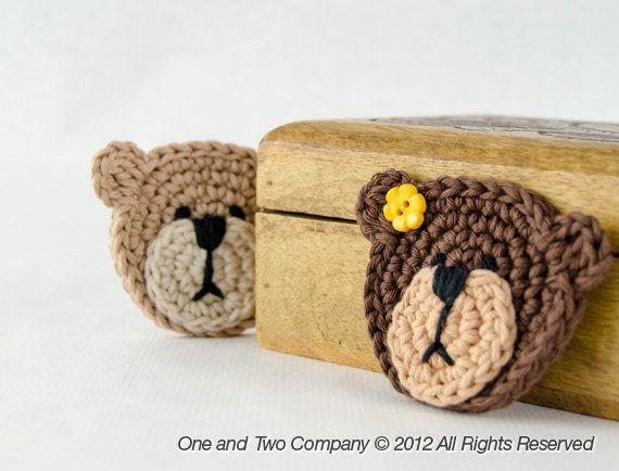 Teddy Bear Applique Pdf Crochet Pattern Instant Download