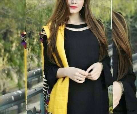 d76cbe50bd6 Image for Simple Cutest Girl in Black n Yellow Dress Profile pic for Girls  Fb