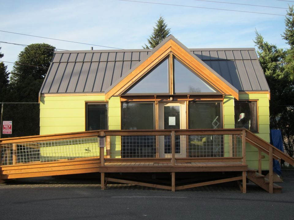 The LEED-certified Gold level home features triple-paned windows