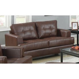 Coaster Fine Furniture Samuel Casual Dark Brown Faux Leather