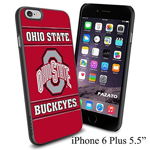 """NCAA O OHIO STATE BUCKEYES , Cool iPhone 6 Plus (6+ , 5.5"""") Smartphone Case Cover Collector iphone TPU Rubber Case Black Phoneaholic http://www.amazon.com/dp/B00VVM8VKC/ref=cm_sw_r_pi_dp_QBLnvb0A9H2E4"""