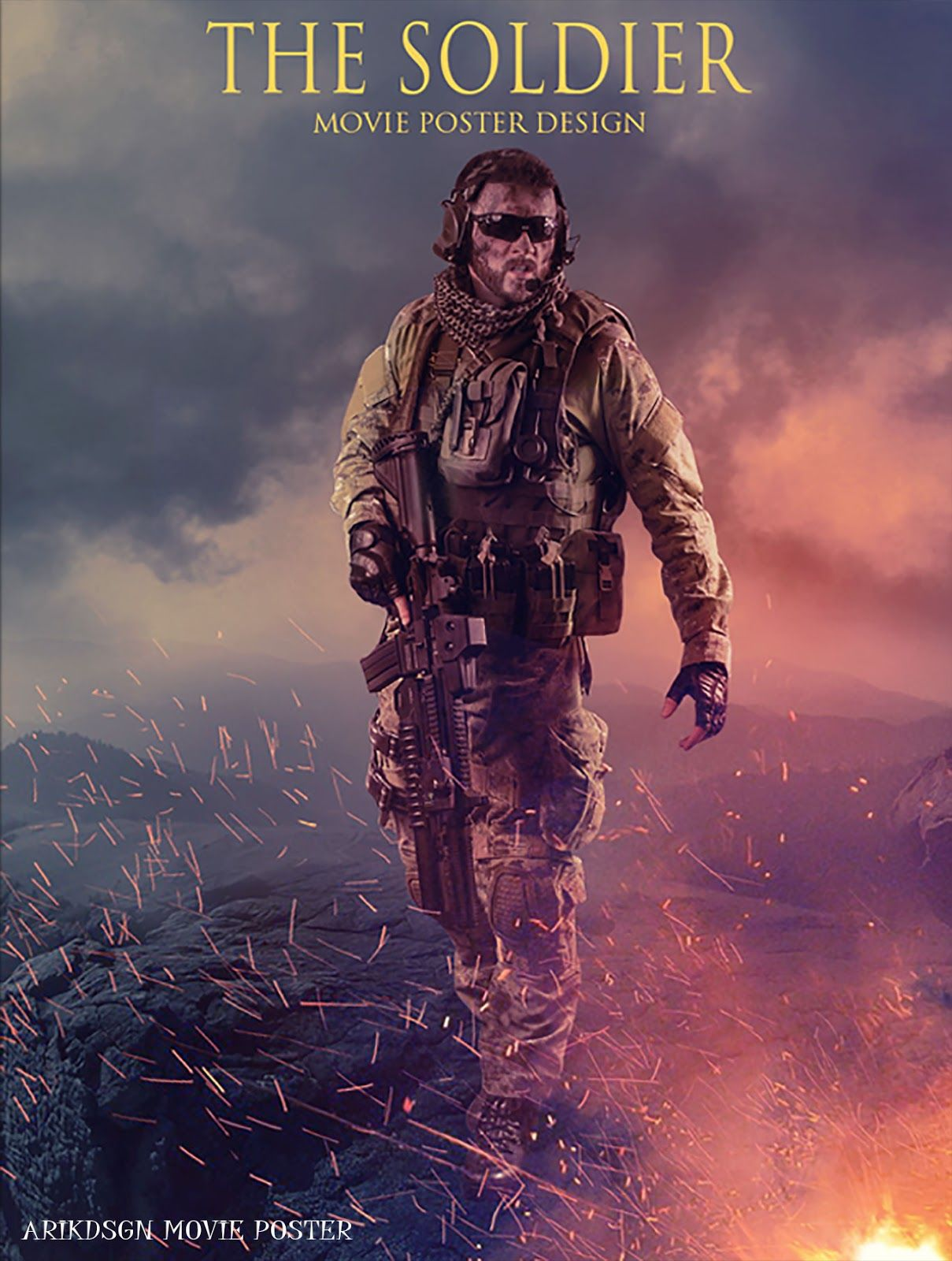 Photoshop poster design youtube - Today We Will Learn How To Create The Soldier Movie Poster Design Photo Manipulation In Photoshop
