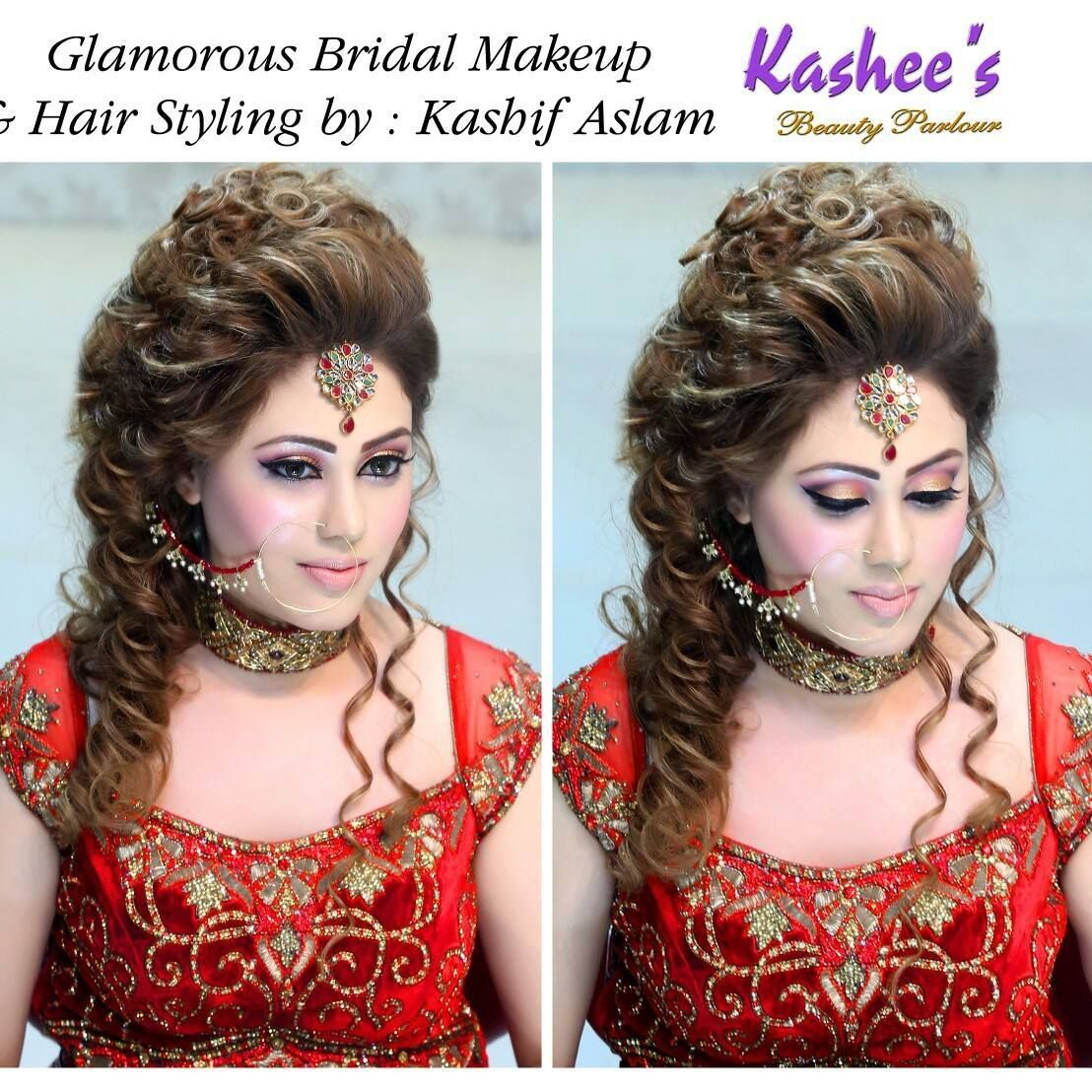 Wedding Makeup Hair Style: Glamorous Bridal Makeup And Hair Styling Done By Kashif