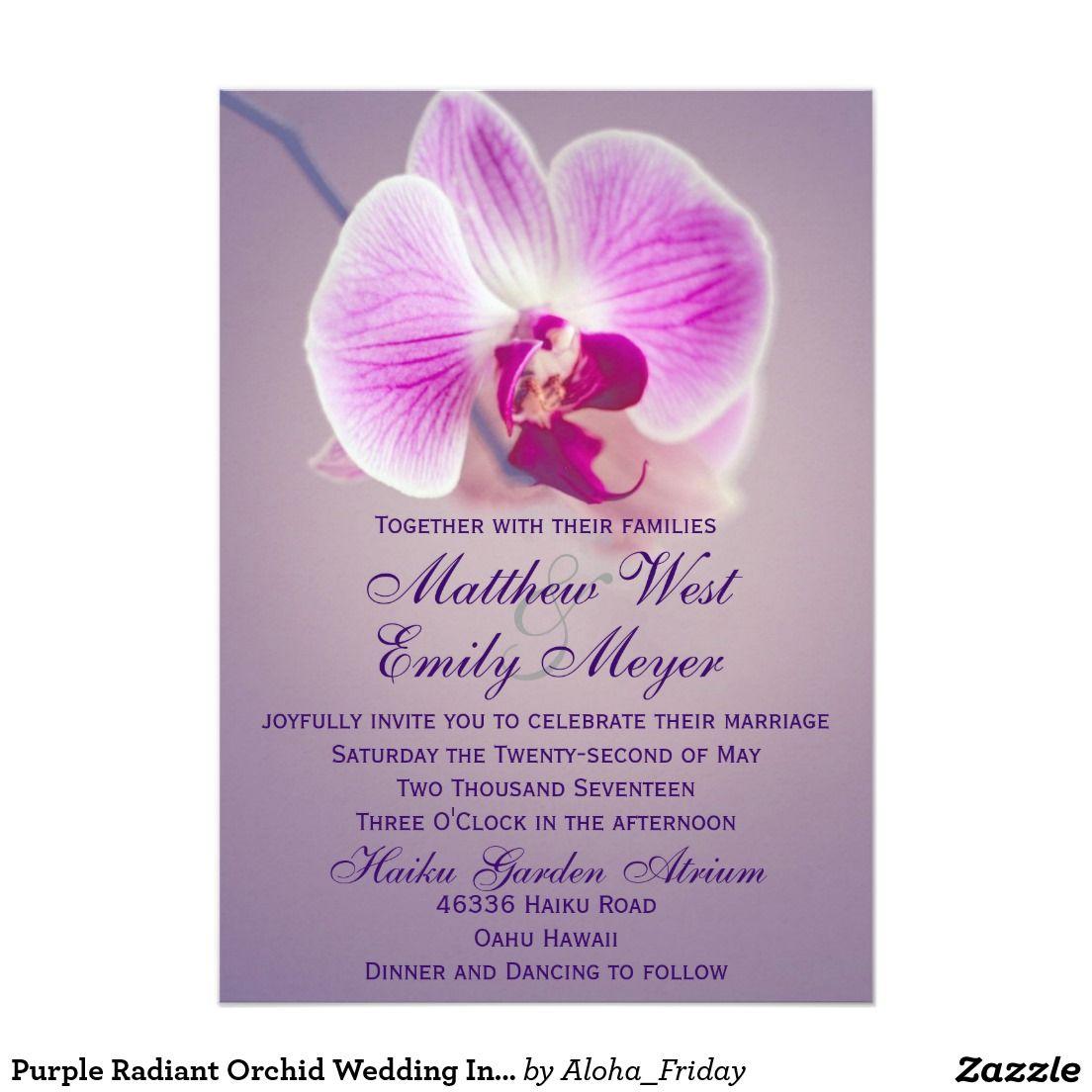 Purple Radiant Orchid Wedding Invitation Creative Wedding