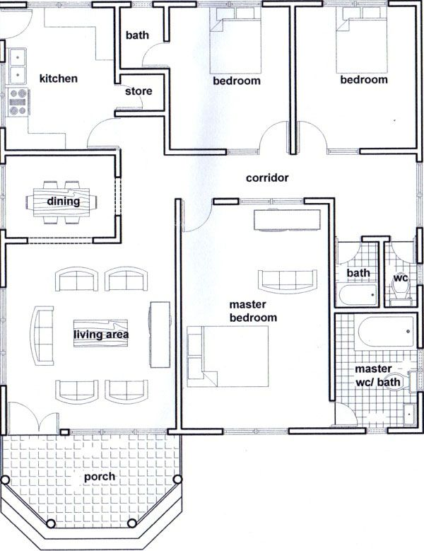 bedroom with shower also best house plans images in rh pinterest