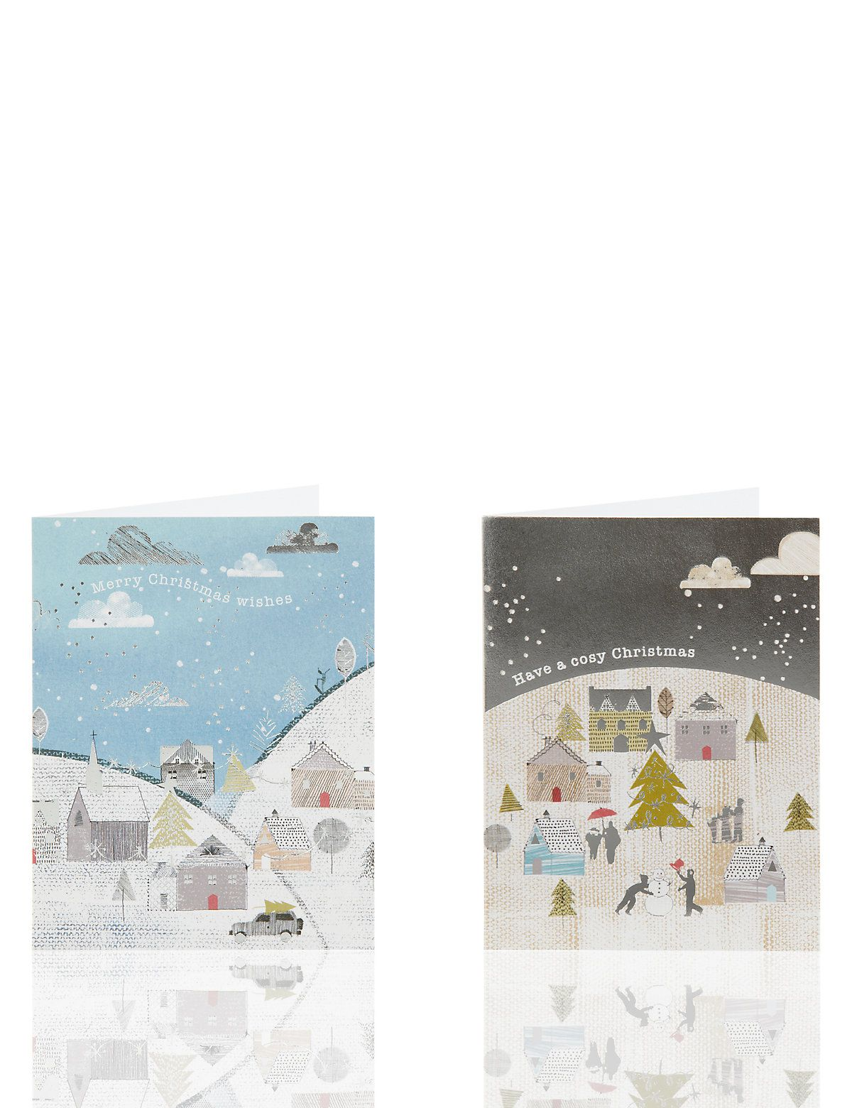 20 Festive Town Scene Charity Christmas Cards Charity